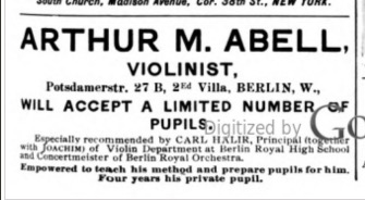 The infamous Mr. Arthur M. Abell of the Musical Courier