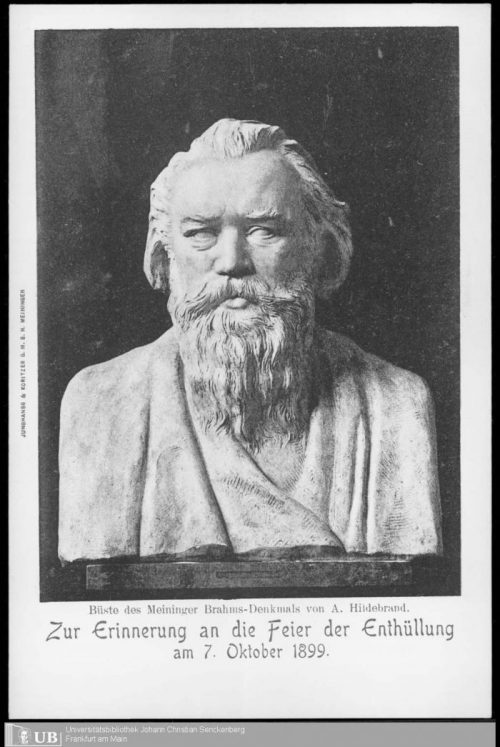 3 April 1907–10th anniversary of Brahms's death